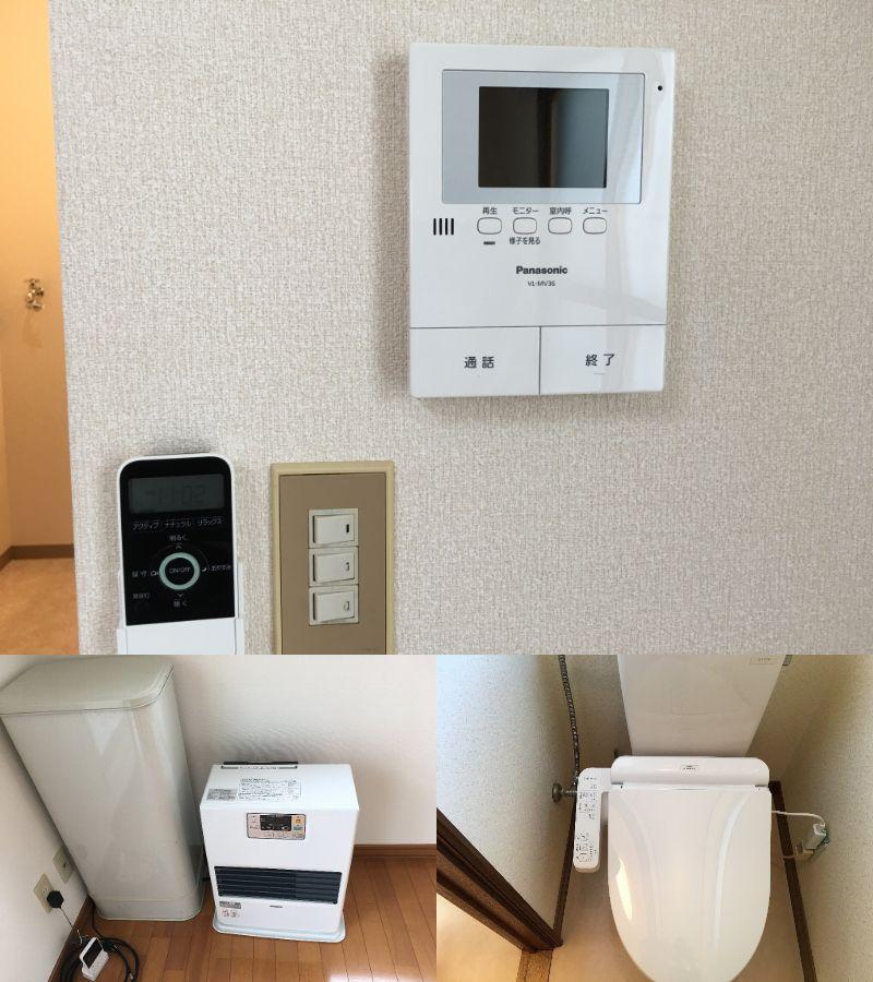 灯油暖房やシャワートイレ、TVモニターホンなどの人気の設備が充実!!